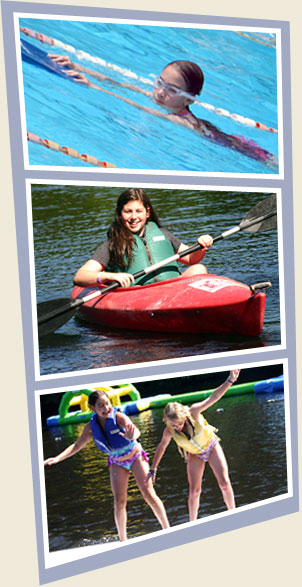 Aquatics Water Activities at Summer Camp for Girls