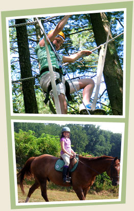 Outdoor Recreation Activities at Girls Sleepaway Camp